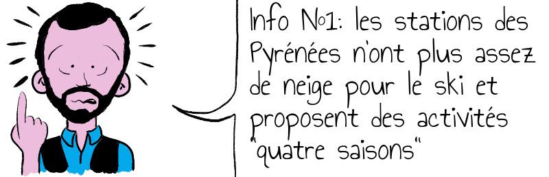 Info N 1  les stations des Pyrénées n ont plus assez de neige pour le ski et proposent des activités  quatre saisons  .jpg