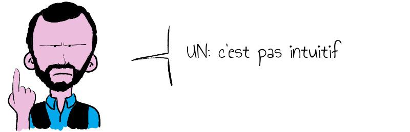 UN: c'est pas intuitif